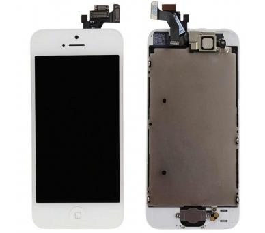 Ekran do iPhone'a 5 w komplecie z aparatem, biały biały przycisk ARREGLATELO - 3