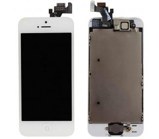 Ekran do iPhone'a 5 w komplecie z aparatem, biały biały przycisk