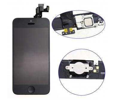 Scherm voor iPhone 5C Compleet met camera, knop en sensoren, zwart zwart ARREGLATELO - 2