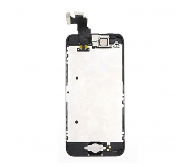 Scherm voor iPhone 5C Compleet met camera, knop en sensoren, zwart zwart ARREGLATELO - 3