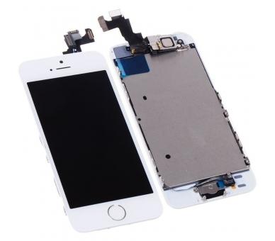Ekran do iPhone 5S w komplecie z aparatem, biały przycisk, biały ARREGLATELO - 2