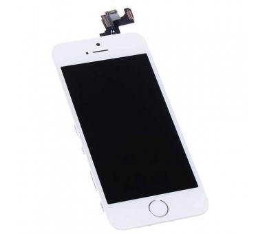 Ekran do iPhone 5S w komplecie z aparatem, biały przycisk, biały ARREGLATELO - 4