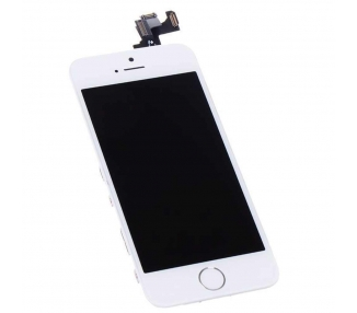 Ekran do iPhone 5S w komplecie z aparatem, biały przycisk, biały