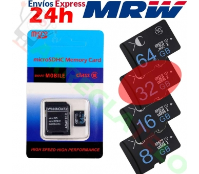 WINNINGWAY 32GB MICRO SD-KAART  - 1