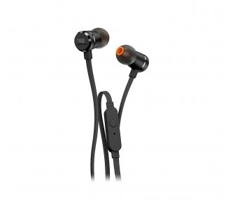 Originele JBL T290 in-ear stereohoofdtelefoon, zwarte kleur