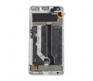 Display For ZTE Blade A570, Color White, With Frame