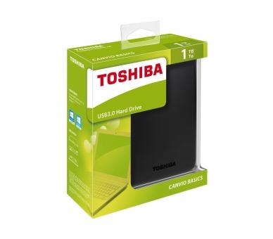 DISCO DURO EXTERNO TOSHIBA CANVIO BASIC 1TB 2.5 USB 3.0 BLACK HDTB310EK3AA Toshiba - 1
