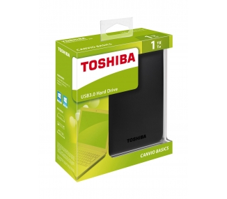 "External HDD TOSHIBA CANVIO BASIC 1TB 2.5"" USB 3.0 BLACK HDTB310EK3AA  - 1"