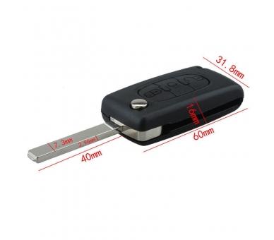 Afstandsbediening met drie knoppen behuizing voor Citroen C2 C3 C4 C5 C6 Picasso VA2 sleutel Citroen - 1