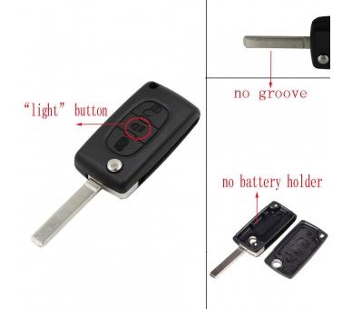 Afstandsbediening met drie knoppen behuizing voor Citroen C2 C3 C4 C5 C6 Picasso VA2 sleutel Citroen - 4
