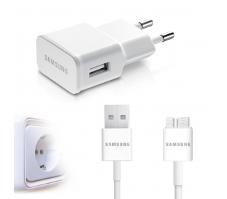 Samsung Galaxy Note 3 Charger + USB 3.0 Cable - Color White