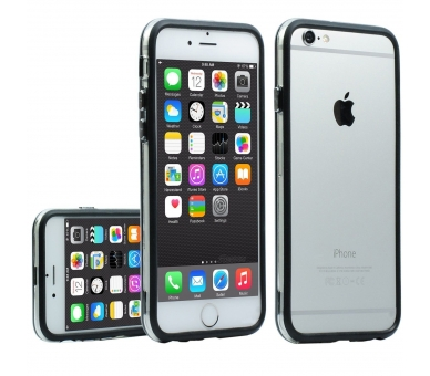 ZWART-TRANSPARANT bumperhoesje voor iPhone 6 - 4,7 inch - hoesje  - 1