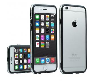 Funda bumper NEGRO-TRANSPARENTE para iPhone 6 - 4,7 pulgadas - carcasa  - 1