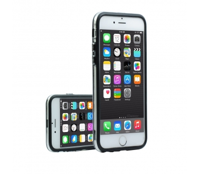ZWART-TRANSPARANT bumperhoesje voor iPhone 6 - 4,7 inch - hoesje  - 3