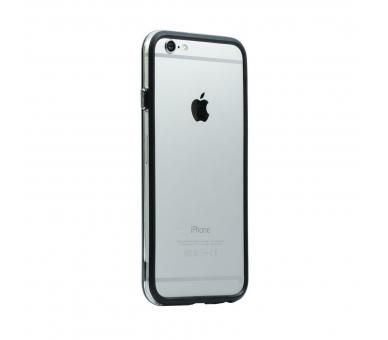 ZWART-TRANSPARANT bumperhoesje voor iPhone 6 - 4,7 inch - hoesje  - 4