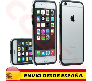 ZWART-TRANSPARANT bumperhoesje voor iPhone 6 - 4,7 inch - hoesje  - 2