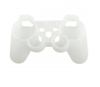 Funda Protectora Silicona para Mando PlayStation 3 PS3 Blanco Semi Transparente