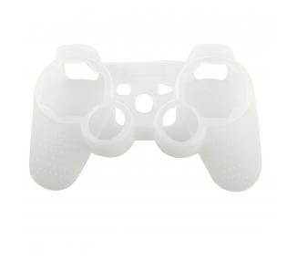 Silikonowy pokrowiec ochronny na kontroler PlayStation 3 PS3 Półprzezroczysty biały