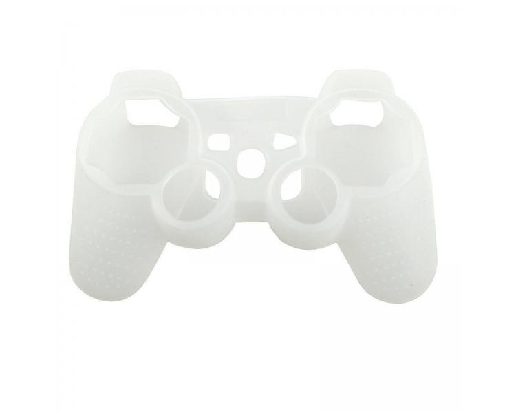 Siliconen beschermhoes voor PlayStation 3 PS3 Controller wit semi transparant ARREGLATELO - 1