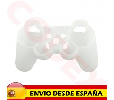 Siliconen beschermhoes voor PlayStation 3 PS3 Controller wit semi transparant ARREGLATELO - 2