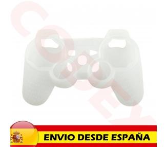 Funda Protectora Silicona para Mando PlayStation 3 PS3 Blanco Semi Transparente ARREGLATELO - 2