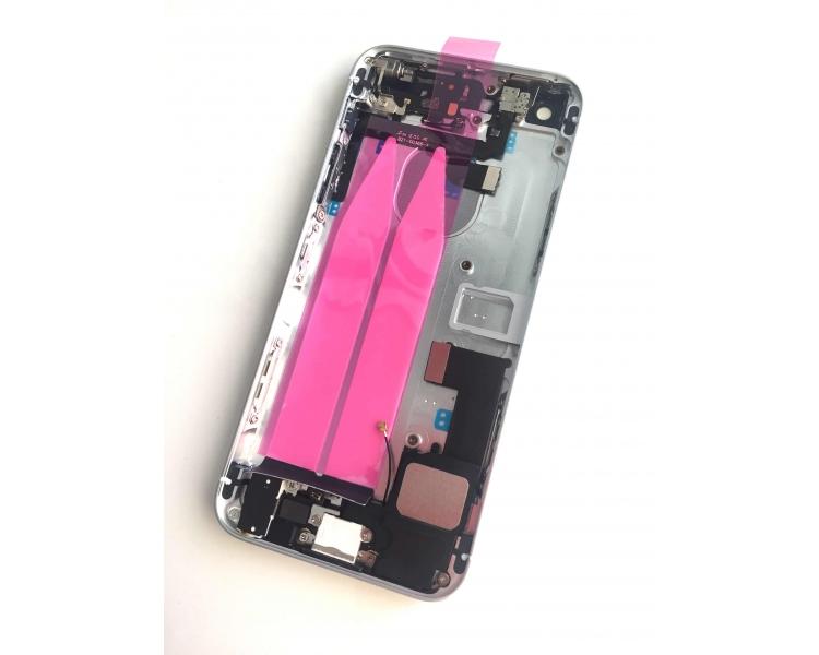 Obudowa obudowy iPhone'a SE z komponentami i elastycznymi kablami Srebrna