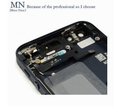 Chassis Behuizing voor Iphone SE Lade + Knoppen + Componenten + Flex Grijs ARREGLATELO - 3