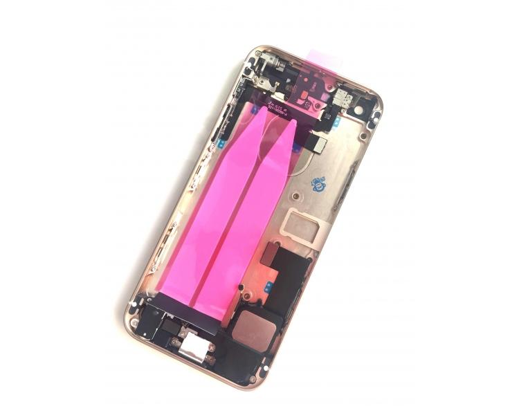 Chasis Carcasa para Iphone SE Bandeja + Botones + Componentes + Flex Dorado Apple - 2