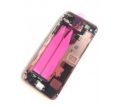 Chasis Carcasa para Iphone SE Bandeja + Botones + Componentes + Flex Rosa Dorado Apple - 2
