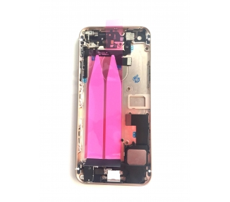 Obudowa obudowy dla Iphone SE Tray + przyciski + komponenty + Gold Flex