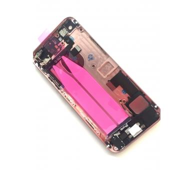 Chasis Carcasa para Iphone SE Bandeja + Botones + Componentes + Flex Rosa Dorado Apple - 4