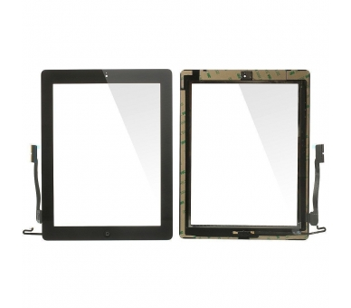 Touch Screen for iPad 4 with Button Home Black ARREGLATELO - 2