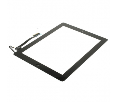 Touch Screen for iPad 4 with Button Home Black ARREGLATELO - 3