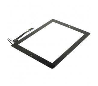 Digitizer z ekranem dotykowym do iPada 4 z przyciskiem Home Czarny Czarny