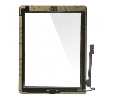Touch Screen for iPad 4 with Button Home Black ARREGLATELO - 4