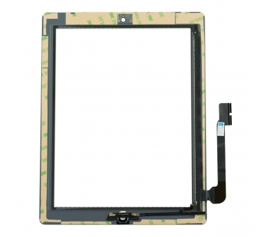 Touch Screen for iPad 4 with Button Home White ARREGLATELO - 3