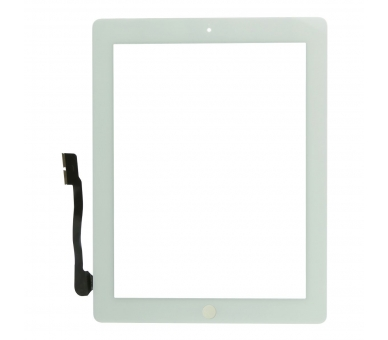 Touch Screen for iPad 4 with Button Home White ARREGLATELO - 2