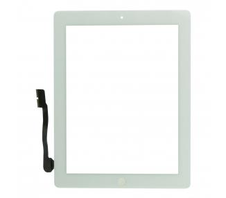 Pantalla Tactil Digitalizador para iPad 4 con Boton Home Blanco Blanca ARREGLATELO - 2