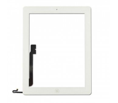 Touch Screen for iPad 4 with Button Home White ARREGLATELO - 4