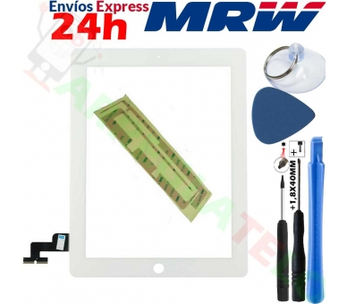 Touch Screen for iPad 2 with Button Home & Adhesive White ARREGLATELO - 1