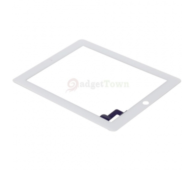Touch Screen for iPad 2 with Button Home & Adhesive White ARREGLATELO - 3