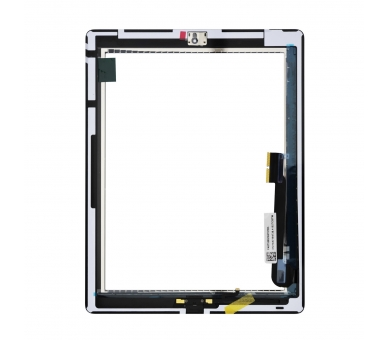 Touch Screen for iPad 4 with Button Home White ARREGLATELO - 5