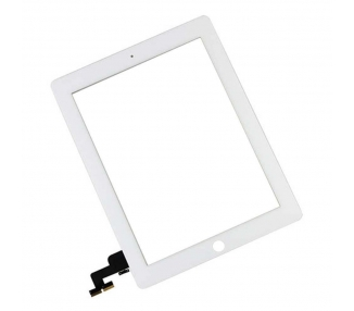 Touch Screen for iPad 2 with Button Home & Adhesive White ARREGLATELO - 2