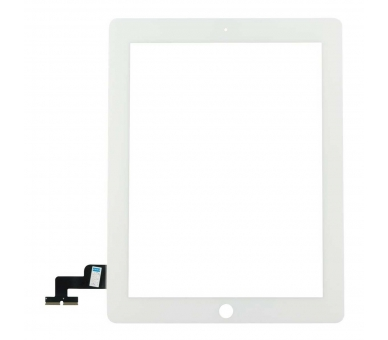 Touch Screen for iPad 2 with Button Home & Adhesive White ARREGLATELO - 4
