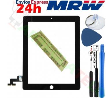 Touch Screen Digitizer voor iPad 2 Zwart Zwart ARREGLATELO - 1
