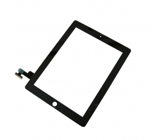 Touch Screen for iPad 2 with Button Home & Adhesive Black