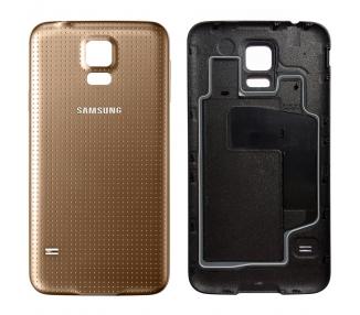 Tapa Trasera para Samsung Galaxy S5 Mini G800F Dorado Dorada ULTRA+ - 1