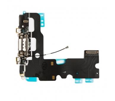 Opladen Flex Koptelefoon Jack Microfoon Connector voor iPhone 7 Wit ARREGLATELO - 1