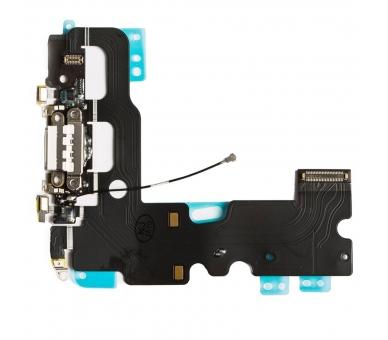 Flex Carga Conector Microfono Jack Auricular para iPhone 7 Blanco ARREGLATELO - 3
