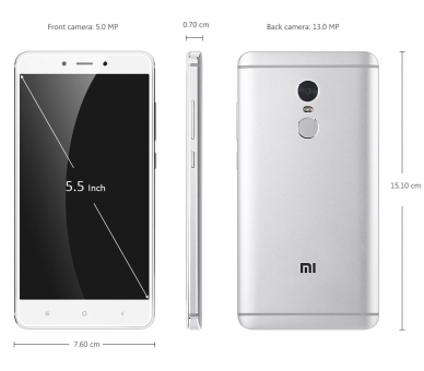 "Xiaomi Redmi Note 4 5,5 4G Android 6.0 Deca-Core 16GB Wit Meertalig "" Xiaomi - 2"